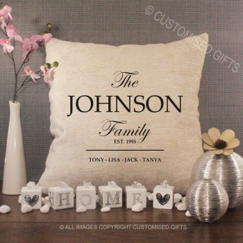 Personalised Home & Family Cushions
