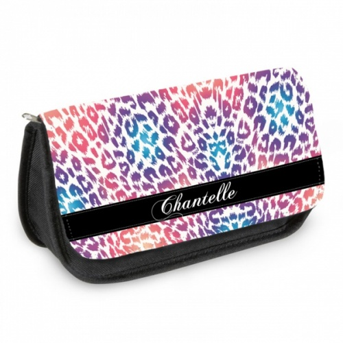Personalised Pencil Case - Colourful Animal Print