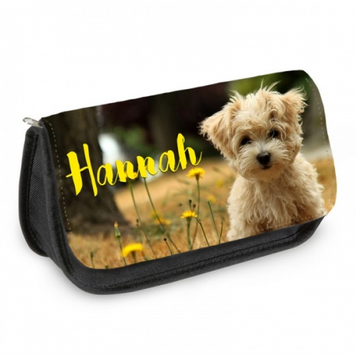 Personalised Pencil Case - Cute Puppy
