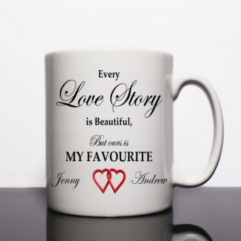 Love Story Personalised Mug