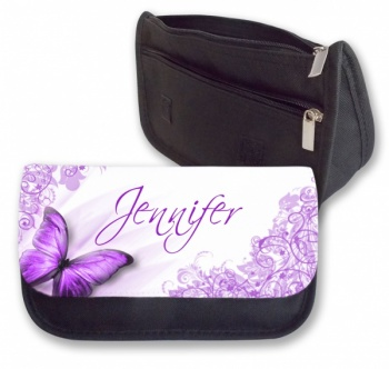 Personalised Pencil Case - Purple Butterfly