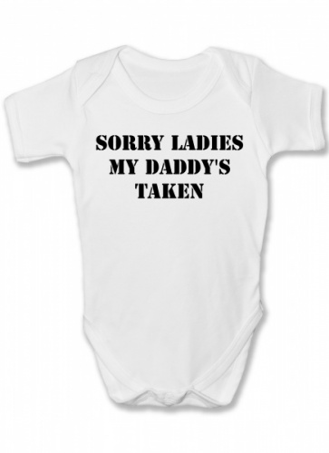 Daddy's Taken Funny Baby Vest