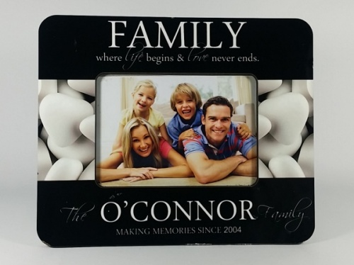 Personalised Photo Frame - Family