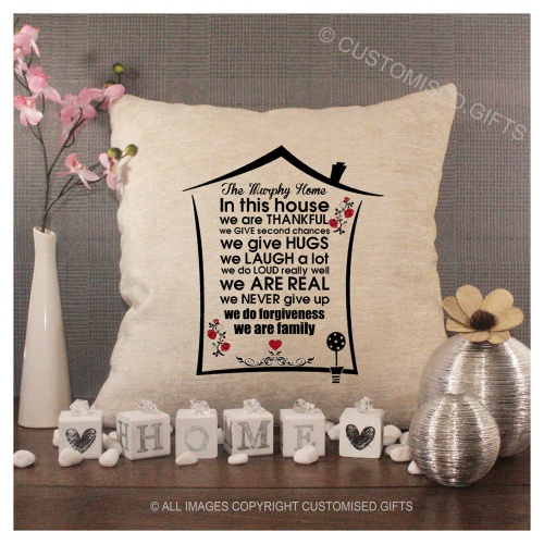 Luxury Personalised Cushion - Inner Pad Included - In This House