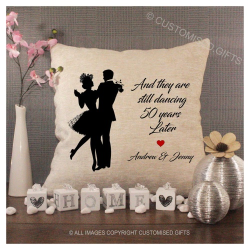 Luxury Personalised Cushion - Inner Pad Included -  Couple Dancing