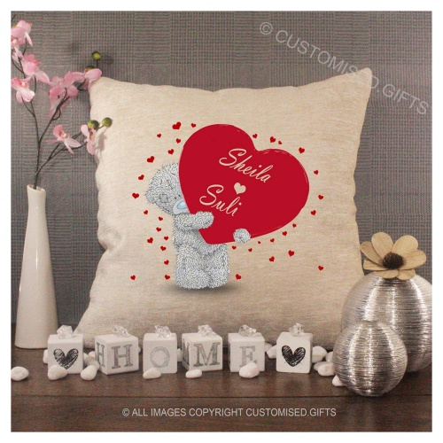 Luxury Personalised Cushion - Inner Pad Included - Love Bear
