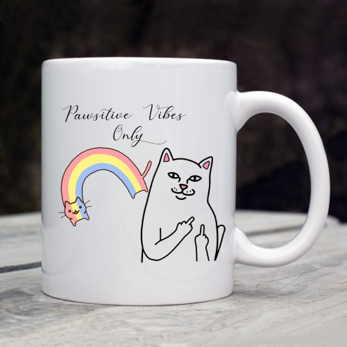 Pawsitive Vibes Only Mug