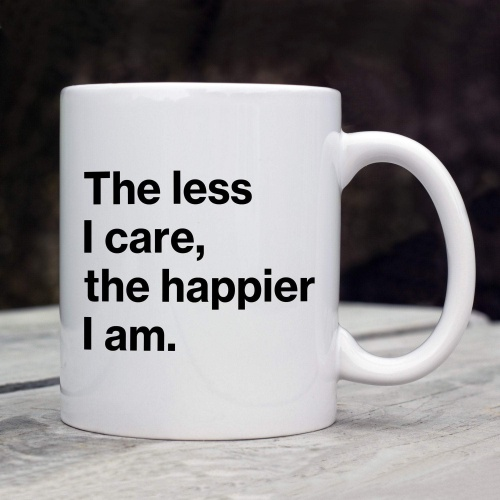 Funny Humorous Mug - The Less I Care