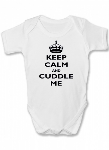 Keep Calm and Cuddle Me Funny Baby Vest