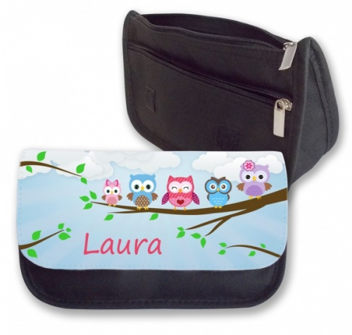 Personalised Pencil Case - Cute Owls