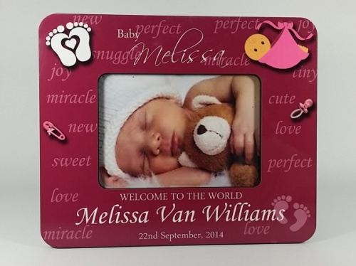 Personalised Photo Frame - Welcome to the World Baby Girl