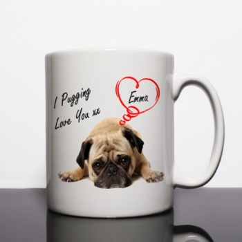 I Pugging Love You Personalised Mug