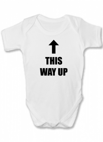 This Way Up Funny Baby Vest