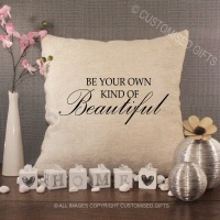 Cream Chenille Cushion - Be Your Own Kind of Beautiful