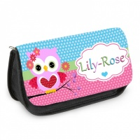 Personalised Pencil Case - Cute Owl