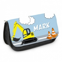 Personalised Pencil Case - Digger