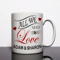 All We Need Is Love Personalised Mug
