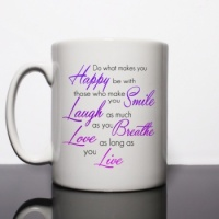 Do What Makes You Happy Personalised Mug