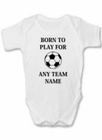 Born To Play For Funny Baby Vest