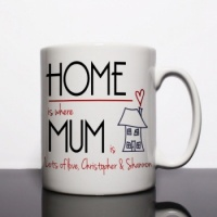 Home is where Mum is Personalised Mug