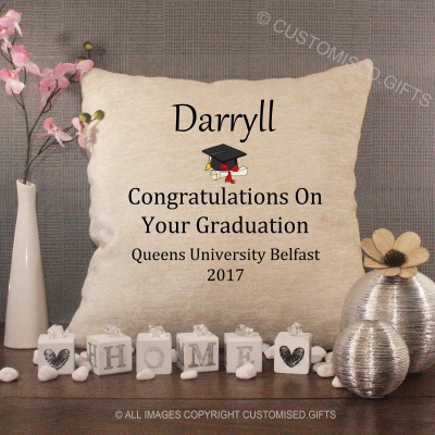 Luxury Personalised Cushion - Inner Pad Included - Graduation