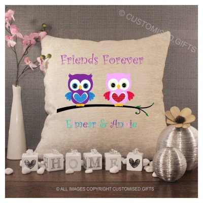 Luxury Personalised Cushion - Inner Pad Included - Friends Forever