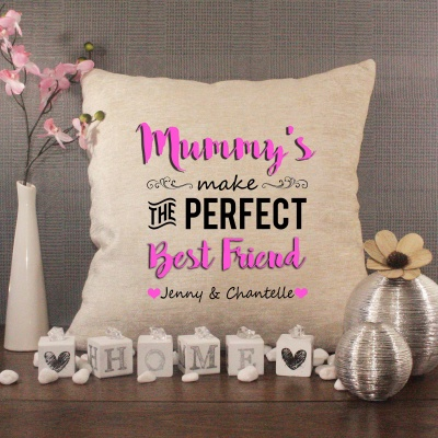 Luxury Personalised Cushion - Inner Pad Included - Mummy's Best Friend