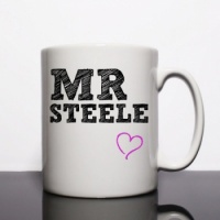 Black Surname Personalised Mug