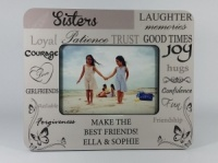 Personalised Photo Frame - Sisters