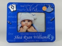 Personalised Photo Frame - Welcome to the World Baby boy