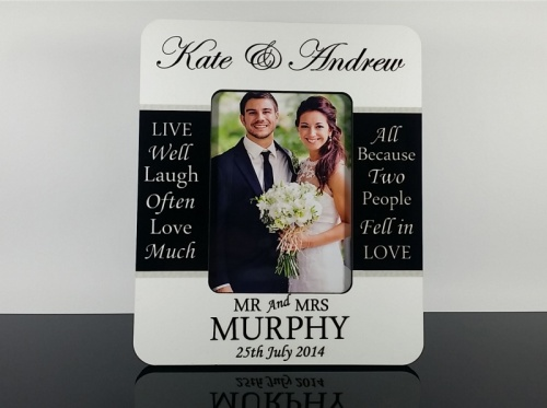 Personalised Photo Frame - Wedding